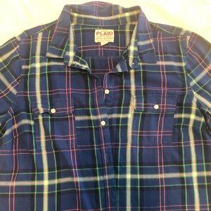 Old Navy Cotton Plaid Shirt